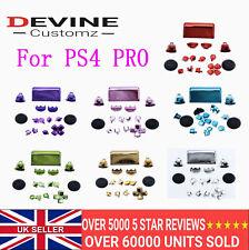 PS4 Pro Controller Chrome Full Buttons Set JDM-040 D-Pad Trigger LT RT LB RB