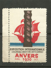 Belgium/Antwerp 1930 World Exhibition poster stamp/label (French text)