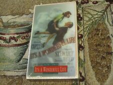 NEW SEALED~IT'S A WONDERFUL~VHS W/SPECIAL HOLOGRAM CARD~JAMES STEWART~DONNA REED