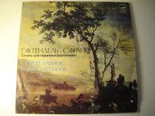 Klimov - violin,Svetlanov - piano. Handel/Franck SONATAS for Violin and Piano LP