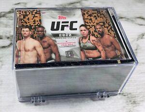 2020 Topps UFC FLAGSHIP 🥊🥊🥊 COMPLETE 100 CARD SET!!! ADESANYA ZHANG MCGREGOR!