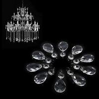 10Pcs 38mm Clear Glass DIY Crystal Prism Chandelier Pendant Light Lamp Part Drop
