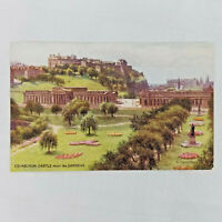 Vintage Postcard Edinburgh Castle from the Gardens by W Cariuthers J Salmon Ltd