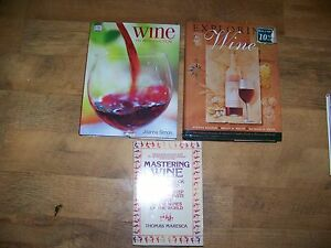 LOT OF 3 BOOKS MASTERING WINE GUIDE TO WINES AND INTRODUCTION TO WINE