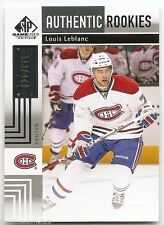 11/12 SP GAME-USED AUTHENTIC ROOKIES RC #189 Louis Leblanc #620/699