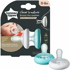 Tommee Tippee BREAST LIKE SOOTHERS 0 - 6 Months *BRAND NEW*