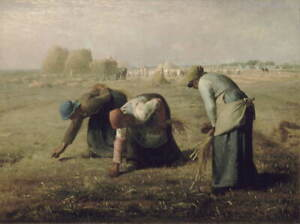 Jean Francois Millet The Gleaners Poster Reproduction Giclee Canvas Print