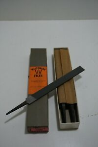 """Wiltshire Files 150mm 6""""  Box of 12 Hand File smooth flat new old stock"""