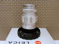 "Leitz Wetzlar 11129 - Leica Elmarit M 2.8/90mm silber ""Lens Germany"" - TOP!"