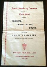 Program 'Spike Jones & The City Slickers' Musical Depreciation Revue - Nov. 1949