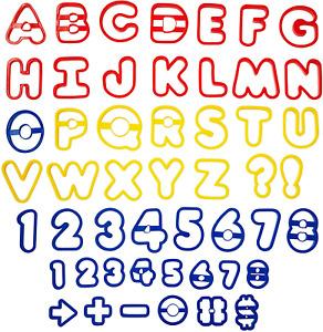 cortadores moldes de letras y numeros para fondant reposteria accesorios