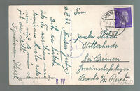 1944 Ossnitz Germany to Ritterhude Arbeitslager Slave Labor Camp Postcard Cover