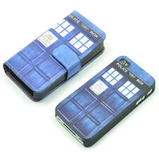 Doctor WHO Tardis British SciFi Wallet Leather Case + Hard Cover For iPhone 4 4S