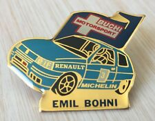 PIN'S VOITURE RALLYE RENAULT CLIO WILLIAMS EMIL BOHNI BUCHI MOTORSPORT MICHELIN