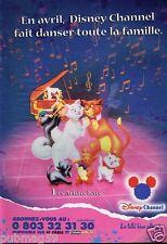 Publicité Advertising 1999 Disney Channel avec Les Aristochats