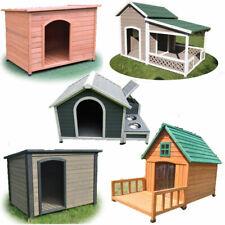 Large Wooden Pet Dog Kennel Timber House Cabin Wood Log Box