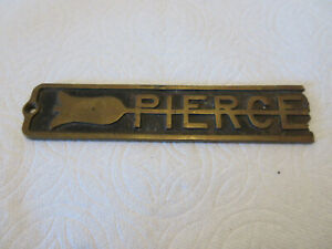 1920s 1930s Pierce Arrow Emblem Car Truck Brass