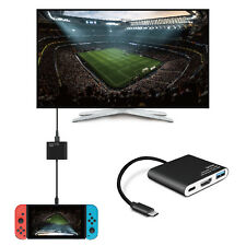 Nintendo Switch to HDMI Adapter USB 3.0 Hub Adapter Dock Converter Cable Cord