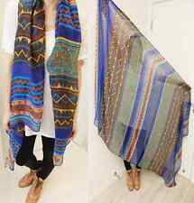 Soft Cotton Voile Print Scarves Women Bohemia Long Shawl Wrap Scarf one hs