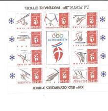 Bloc feuillet N ° 14 Jeux Olympiques d´hiver