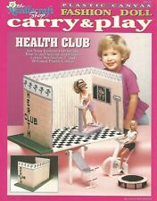 Fashion Doll Carry & Play HEALTH CLUB Fitness Center Plastic Canvas Patterns TNS