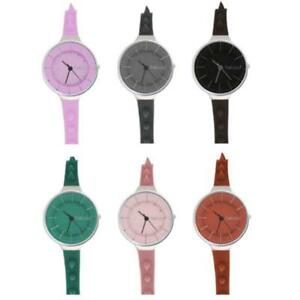 TALCO SPIKE Womens Watch Watchband Silicone Colored Studs Lady