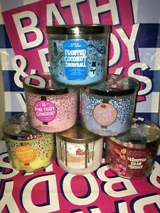Bath & Body Works 3 Wick Candle 14.5oz 411g *RARE SPECIAL USA SCENTS*