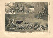 Paris Beaux-Arts Exposition  Aquarelles de Arnold & Tripp Leloir GRAVURE 1881