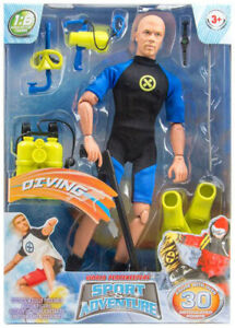 """M & C Toy 1:6 12"""" World Peacekeepers: Sport & Adventure: Scuba Diver MCT-90735A"""