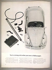 Volkswagen VW Beetle Bug PRINT AD - 1966 ~~ You're Missing A Lot...