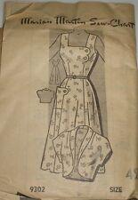 Vintage 1950s Mail Order 9302 Plus Size Sundress Dress Bolero Pattern 42B sz 42