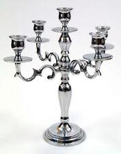 "11.5"" Brass Candelabra Silver Plated ~ Candle Holder ~ Candle Holder 5 Light"