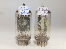 Two ECC83 12AX7 Telefunken TFK <> base, paire tube tested strong near nos