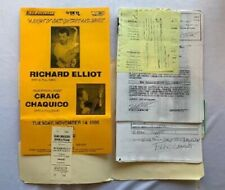 Richard Elliot Concert Contract 1995 Pittsburgh