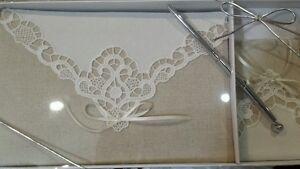 Burlap & Lace Guestbook & pen by Lillian Rose, GB882, burlap guestbook, Bridal