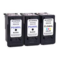 PG-245XL Black CL-246XL Color Ink Cartridge For Canon PIXMA IP2820 MX492 3 Pack