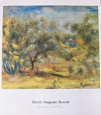 Pierre Auguste RENOIR Lithograph LANDSCAPE OUTSIDE CAGNES Facsimile Signed Art