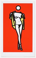 Julian Opie - Woman Taking Off Man's Shirt , 2003 - limited edition screenprint