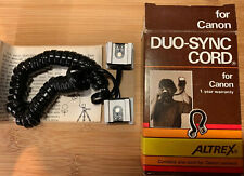 ALTREX DUO-SYNC CORD FOR CANON & ORIGINAL PACKAGING & INSTRUCTIONS (Free UK P&P)