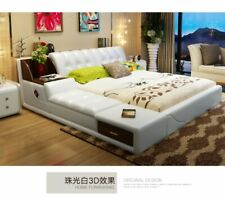 Real Genuine Leather Bed Frame Modern Soft Beds With Storage Home Bedroom Furnit