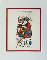 Joan Miro Peintures,Gouaches,Dessin Poster Print Matted Offset Lithograph 1980