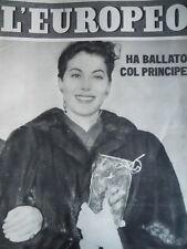 L' EUROPEO n°51 1951 Ava Gardner ha ballato col principe [C74]