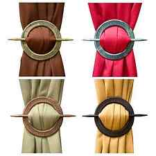 NEW Set of 2 Decorative Window Curtain Holdbacks,Tie-Backs - Round Braid