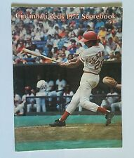 Cincinnati Reds Baseball Scorebook 1975 Magazine • Cesar Geronimo Cover