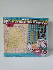 Bendon 2016 HELLO KITTY Crystal Masterpiece Sticker By Number Set *NEW*