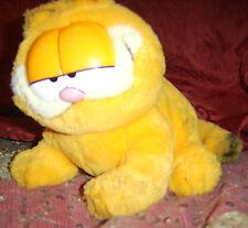"""Vintage 9"""" 1978 sitting GARFIELD stuffed animal Fine toy ltd orange black USED"""