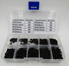 M2 Allen Hex Socket Grub Screws Assortment Kit 450 pcs