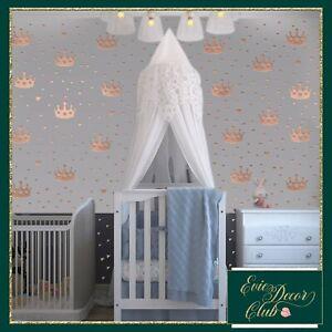 Baby girl nursery,princess crown decal,Little prince nursery decor,tiara sticker
