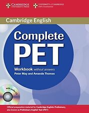Complete PET Workbook without answers with Audio CD New Paperback Book Peter May