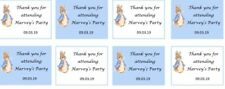 25x Personalised Peter Rabbit Thank you Stickers Favour Party Bag Sweet birthday